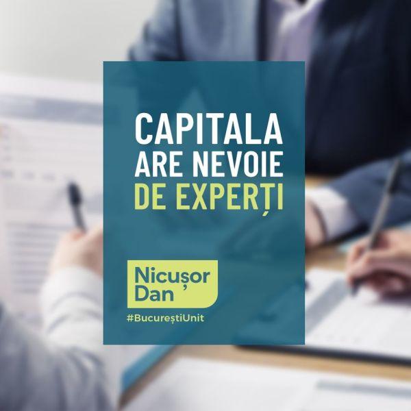 Nicușor Dan: Capitala are nevoie de experți - foto preluat de pe www.facebook.com/NicusorDan.ro