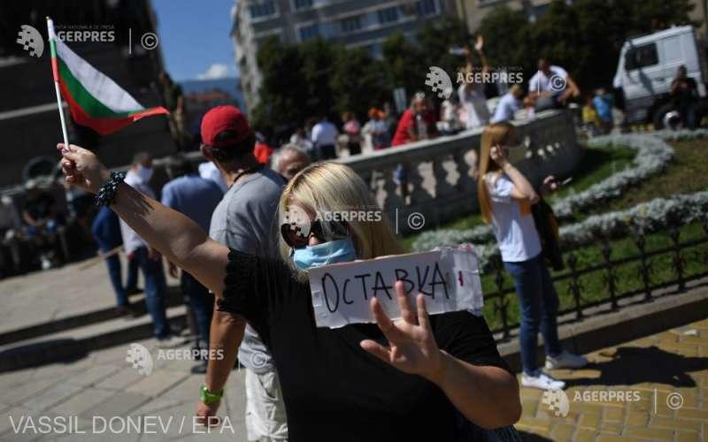 Bulgaria - Protestatarii cer pentru a 15-a zi consecutiv demisia guvernului (23 iulie 2020) - foto preluat de pe www.agerpres.ro