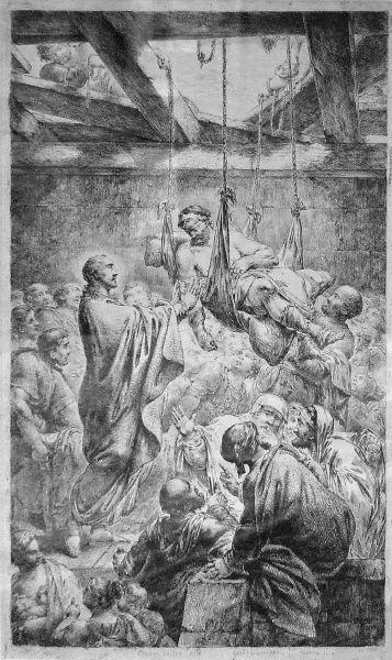 Hristos vindecând slăbănogul din Capernaum de Bernhard Rode, 1780 - foto preluat de pe ro.wikipedia.org