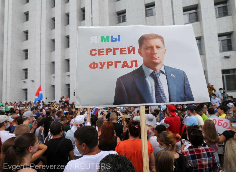 Manifestaţiile anti-Kremlin zguduie Extremul Orient rus (25 iulie 2020) - foto preluat de pe www.agerpres.ro