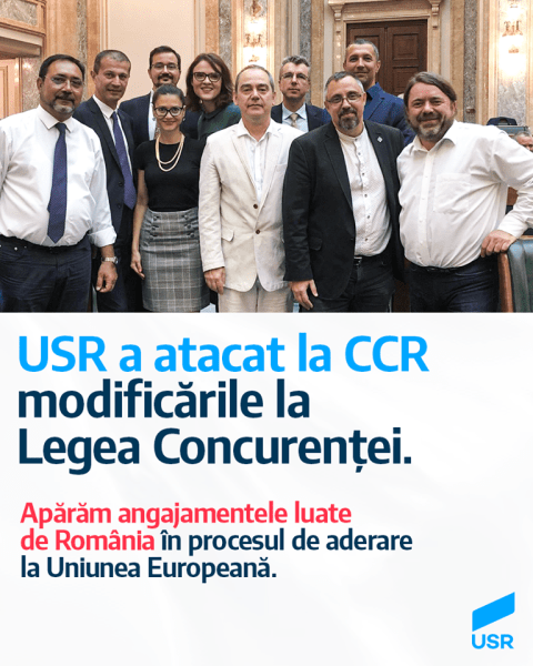 3 iulie 2020 - Senatorii USR au atacat, astăzi, la Curtea Constituțională modificările votate de PSD zilele trecute la Legea Concurenței - foto preluat de pe www.facebook.com