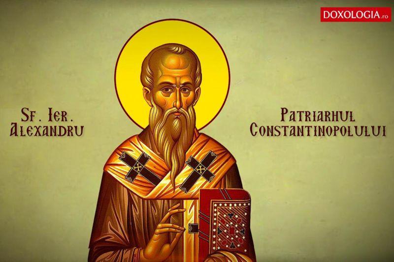 Sfântul Ierarh Alexandru, Patriarhul Constantinopolului (†337) - foto preluat de pe doxologia.ro