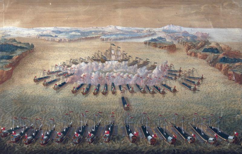 Bătălia de la Gangut (7 august 1714) - foto preluat de pe ro.wikipedia.org