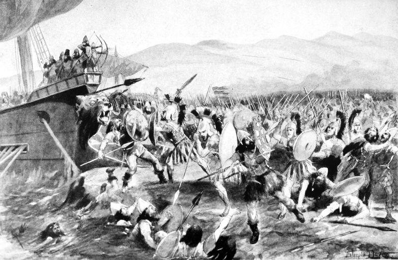Bătălia de la Maraton (12 august/septembrie 490 î.Hr.) - foto preluat de pe en.wikipedia.org