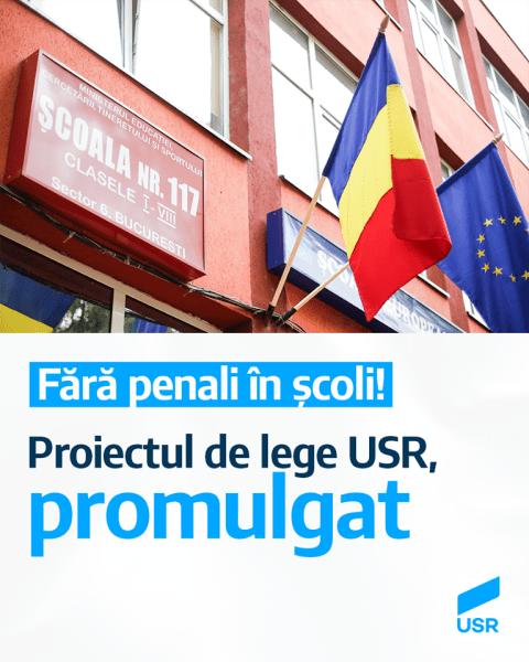 Legea USR Fără condamnați penal în școli a fost promulgată de președintele Klaus Iohannis (20 august 2020) - www.facebook.com/USRNational