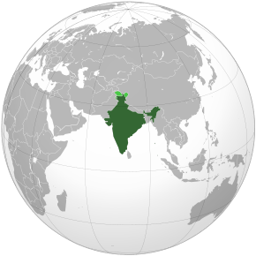 India, oficial Republica India, este o țară din sudul Asiei. India se află pe locul 7 în ierarhia țărilor după suprafață, pe locul doi după numărul locuitorilor și este statul democratic cu cei mai mulți locuitori - foto preluat de pe ro.wikipedia.org