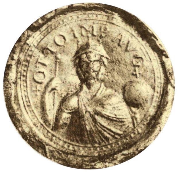Otto I cel Mare (n. 23 noiembrie 912 – d. 7 mai 973), fiul lui Henric I regele germanilor și al Matildei von Ringelheim, a fost duce al saxonilor, rege al germanilor și primul împărat al Sfântului Imperiu Roman. (Cu toate că Charlemagne a fost încoronat împărat în 800, imperiul său a fost împărțit între nepoți, și ulterior asasinării lui Berengario în 924, titlul imperial a rămas vacant pentru aproape 40 de ani) (Depiction of Otto I on his seal in 968) - foto preluat de pe en.wikipedia.org