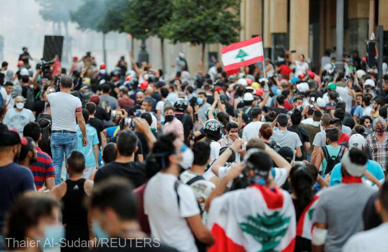 Liban: Noi confruntări între manifestanţi şi poliţişti la Beirut (9 august 2020) - foto preluat de pe www.agerpres.ro