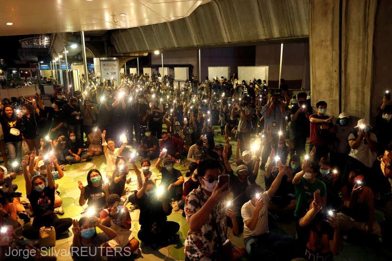 Thailanda: Manifestaţii antiguvernamentale la Bangkok (8 august 2020) - foto preluat de pe www.agerpres.ro