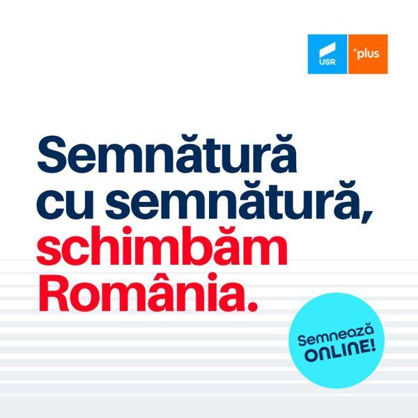Semnează ONLINE pentru #candidatiiUSRPLUS! - foto preluat de pe www.facebook.com/USRNational