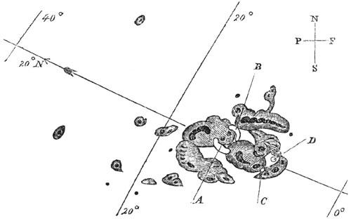 1 septembrie 1859 - Desenul petelor solare observate de Richard Carrington (1826-1875), astronom englez - foto preluat de pe ro.wikipedia.org