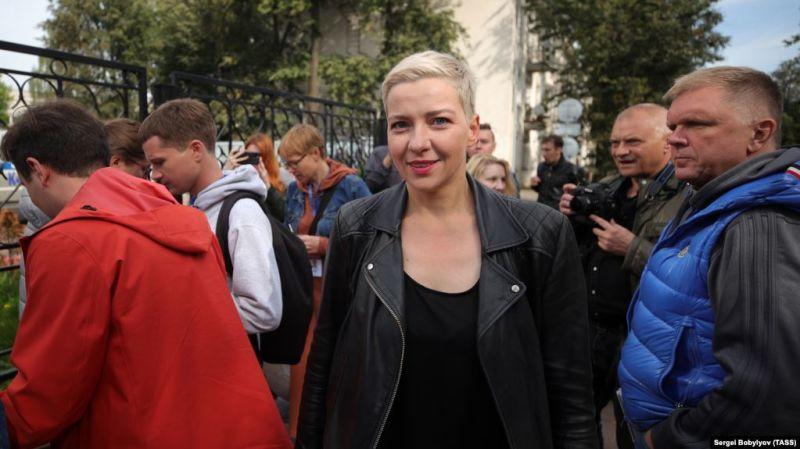 Maryya Kalesnikava in Minsk on September 2 - foto preluat e pe romania.europalibera.org