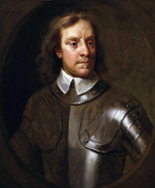 """Oliver Cromwell (n. 25 aprilie/5 mai 1599, Huntingdon, Regatul Angliei – d. 3/13 septembrie 1658, City of Westminster, Regatul Unit) a fost un lider militar și politic englez, cunoscut în special pentru contribuția sa la transformarea Angliei într-o republică federală (""""Commonwealth"""") și pentru rolul său ulterior de Lord Protector al Angliei, Scoției și Irlandei - A 1656 Samuel Cooper portrait of Cromwell - foto preluat de pe en.wikipedia.org"""