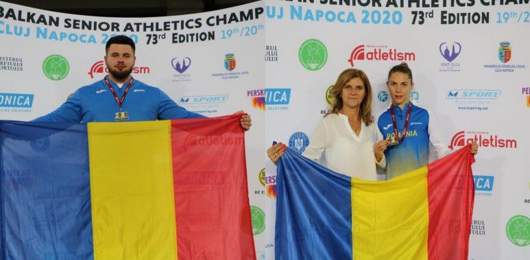 Campionatele Balcanice de Atletism pentru seniori în aer liber, ediția a 73-a - MEDALII DE AUR Rareș Toader – greutate – 19,44 m; Claudia Bobocea – 800 m – 2:03.32 min.; România (Ana Maria Roșianu, Iulia Banaga, Marina Baboi, Anamaria Nesteriuc) – 4×100 m – 46.11 s (19 septembrie 2020) - foto preluat de pe https://www.fra.ro/