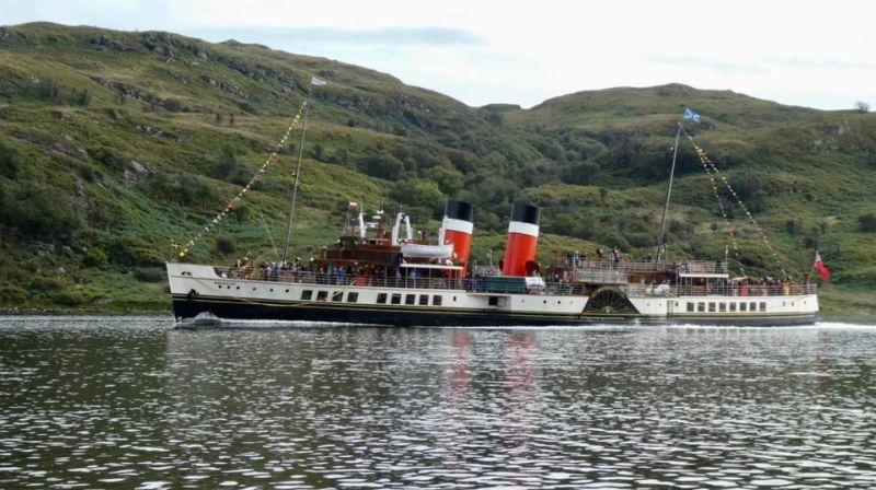 Waverley, ultimul vapor cu aburi din lume s-a lovit de mal, 17 persoane au fost rănite (3 septembrie 2020) - foto preluat de pe www.facebook.com/waverley.excursions