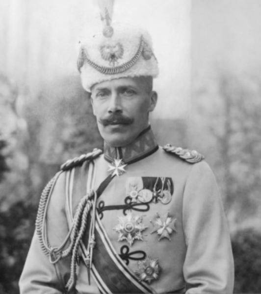 Wilhelm de Wied (în germană Wilhelm Friedrich Heinrich Prinz zu Wied; n. 26 martie 1876, Neuwied, Germania - d. 18 aprilie 1945, Predeal, România) a fost în 1914 timp de șase luni principele Albaniei - foto (1914) preluat de pe en.wikipedia.org