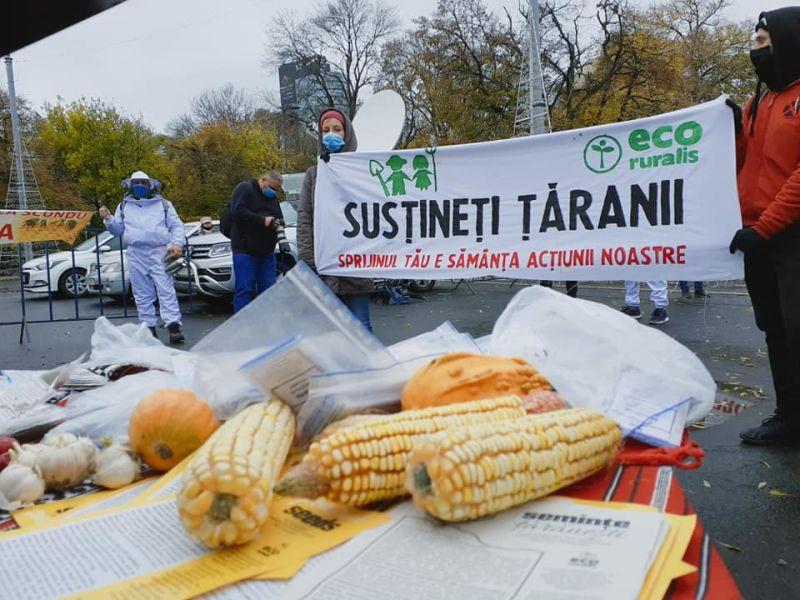 Protest producători şi lucrători agricoli (18 noiembrie 2020) - foto preluat de pe www.facebook.com/ecoruralis