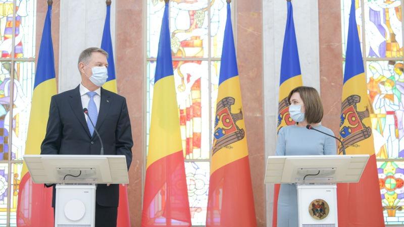 Declarații de presă comune ale Președintelui României, domnul Klaus Iohannis, cu Președintele Republicii Moldova, doamna Maia Sandu (29 decembrie 2020) - foto preluat de pe www.presidency.ro