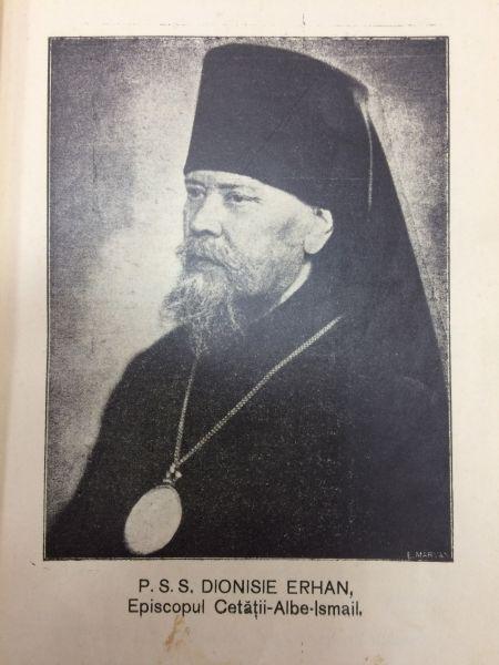 PS Dionisie Erhan, născut Dimitrie Erhan (n. 2 noiembrie 1868, Bardar, Ialoveni — d. 17 septembrie 1943, Chișinău) a fost un cleric ortodox român - foto preluat de pe ro.wikipedia.org